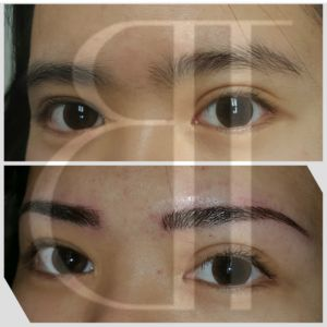 3D Hairstrokes with microblading.