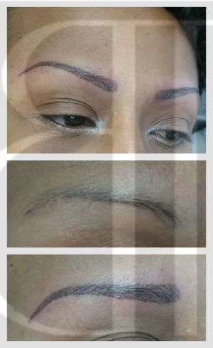 3D hairstrokes can be created through microblading or a Digital machine.