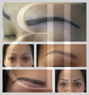 This Customer previously had Powder Fill and decided she wanted to add 3D Hairstrokes to give her Eyebrows a more Natural look.
